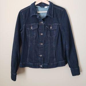 Liz Claiborne Dark Wash Denim Jean Jacket Petite L
